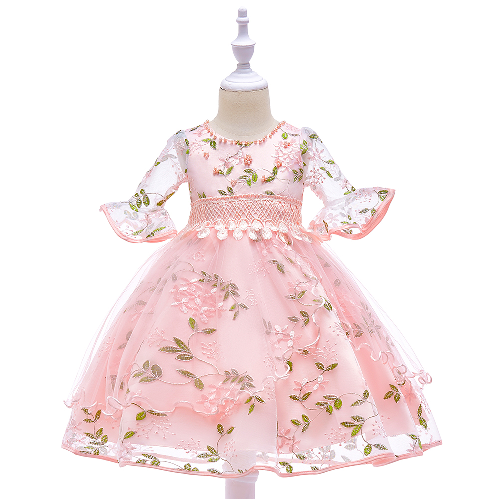 Kids Dresses Wedding Girls Party Clothes For Children Baby Girl Frock INF26