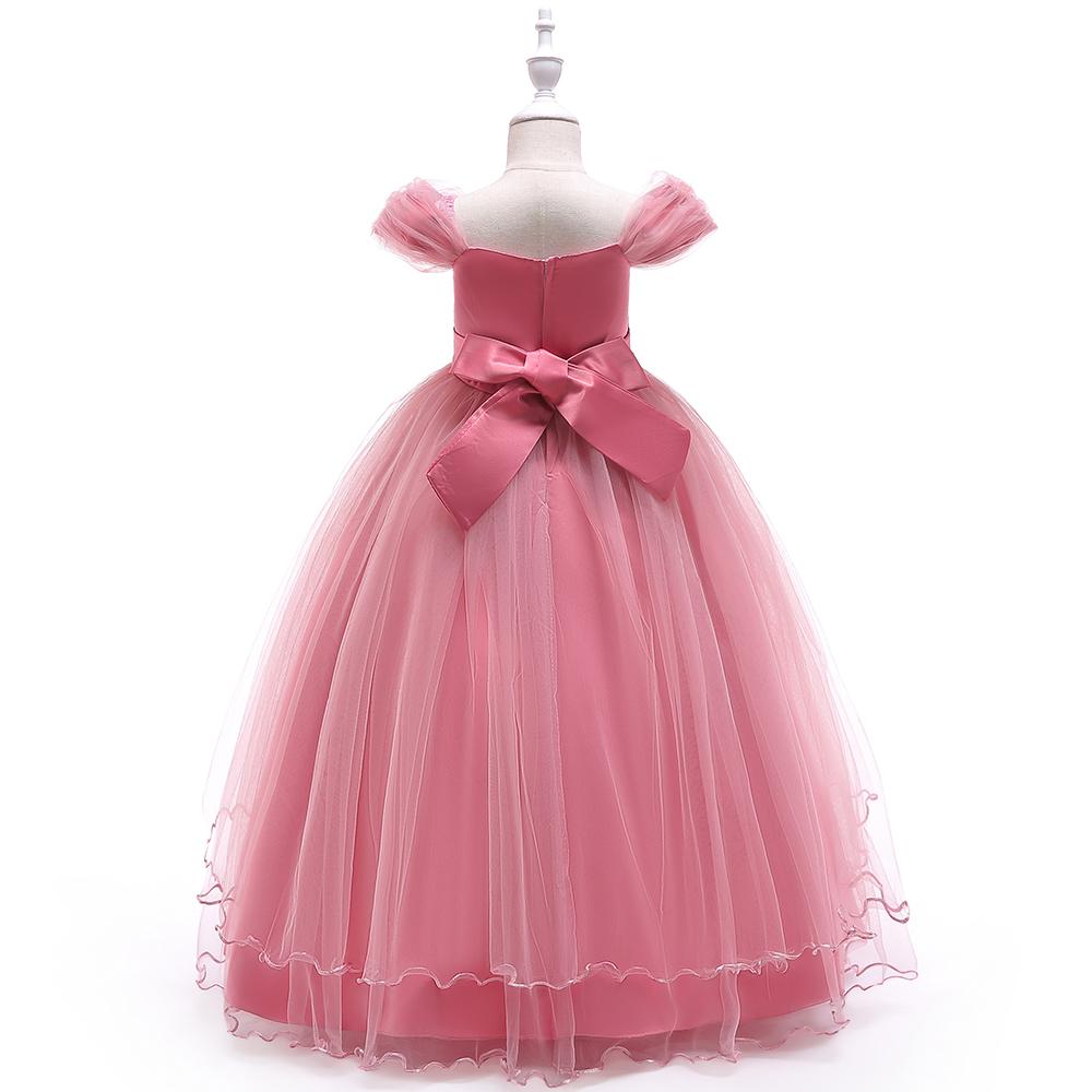 e4fbb7fd1c5d Fashion Baby Floor-length Wedding Clothes Children Long Dress Girls Fancy  Garments