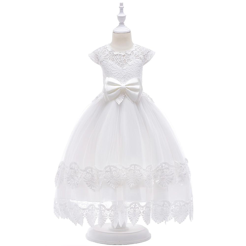 New Fashion Flower Girl Dress Party Birthday Wedding Princess Baby Girls Clothes Children Kids Bridesmaid Wear Inf40