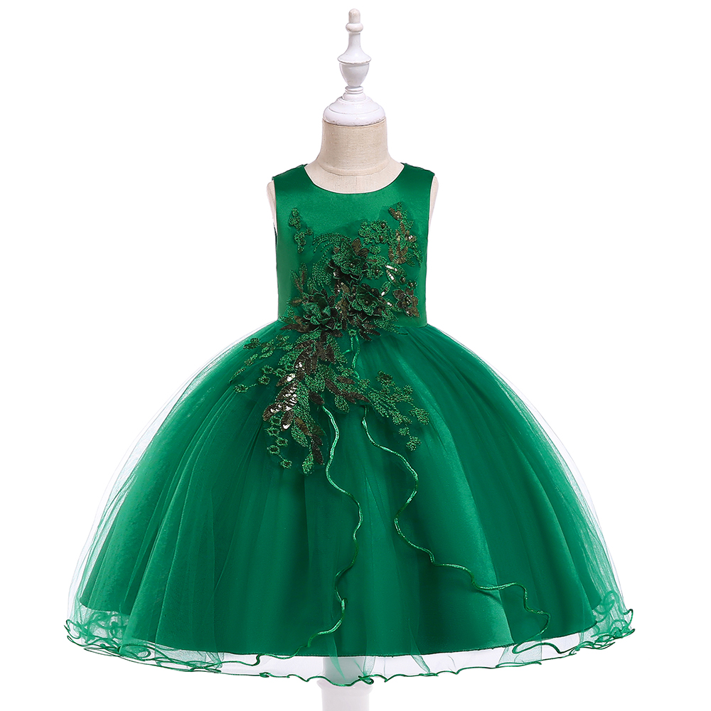 Toddler Kids Baby Girl Floral Princess Party Strap Tulle Dresses Casual Clothes