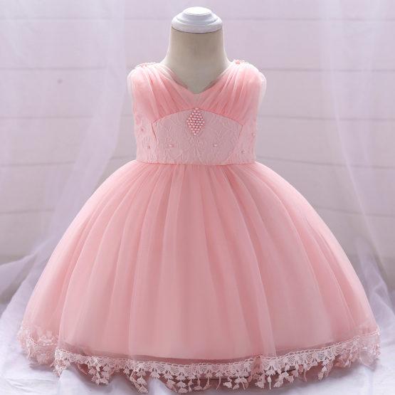 fd07de0fe117 Baby Girl Party Dress Kids Flower Children Frocks lace dresses INF64